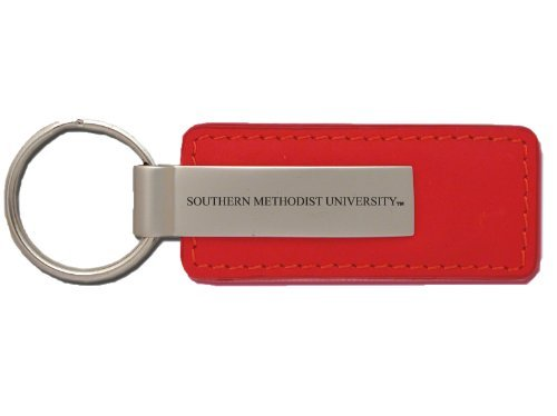 Red Southern Methodist University Pewter Christmas Tree Ornament