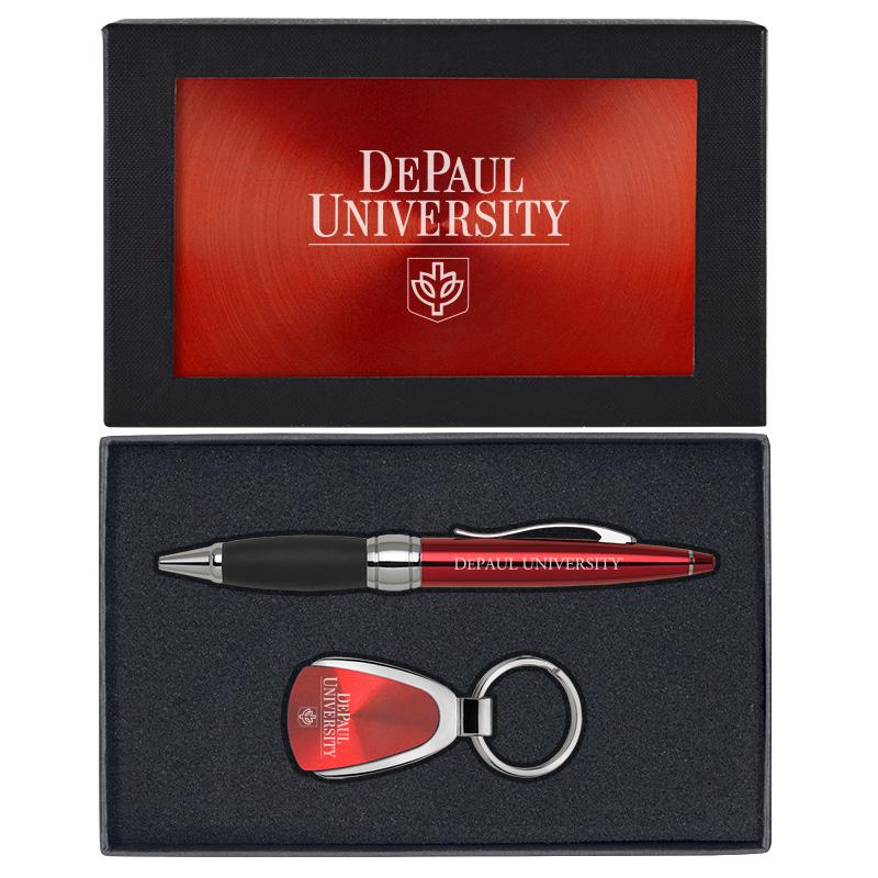 DePaul University Teardrop Keychain Blue