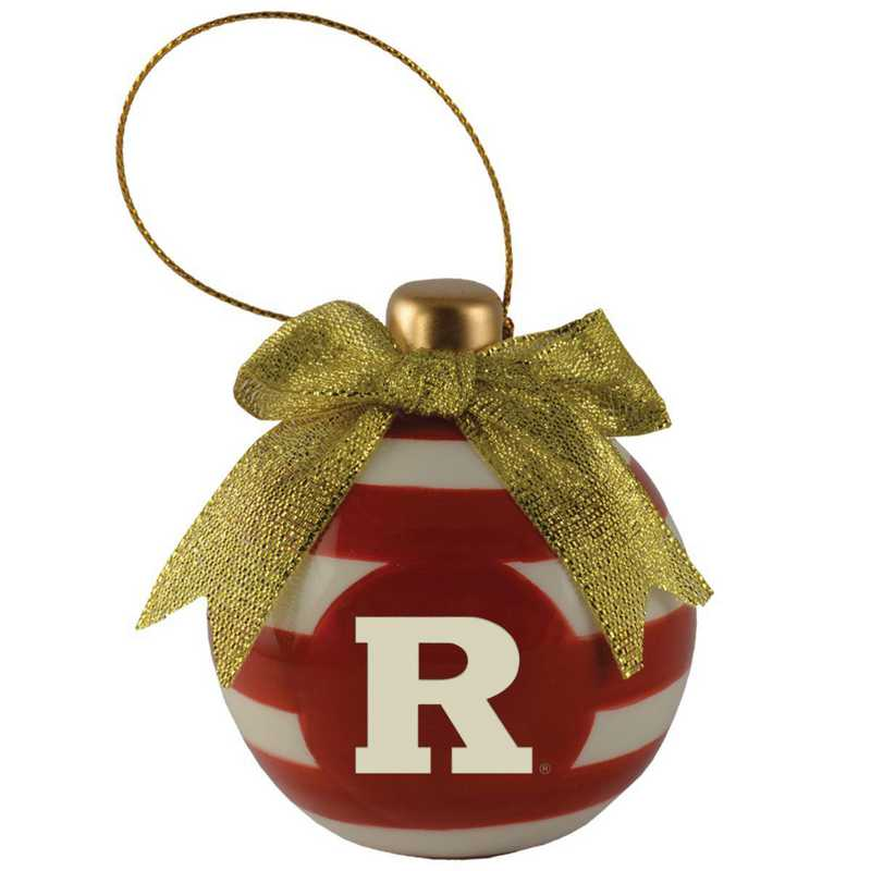 CER-4022-RUTGERS-CLC: LXG CERAMIC BALL ORN, Rutgers