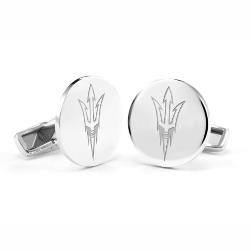 NCAA Arizona State University Sparky Cufflinks Officially Licensed