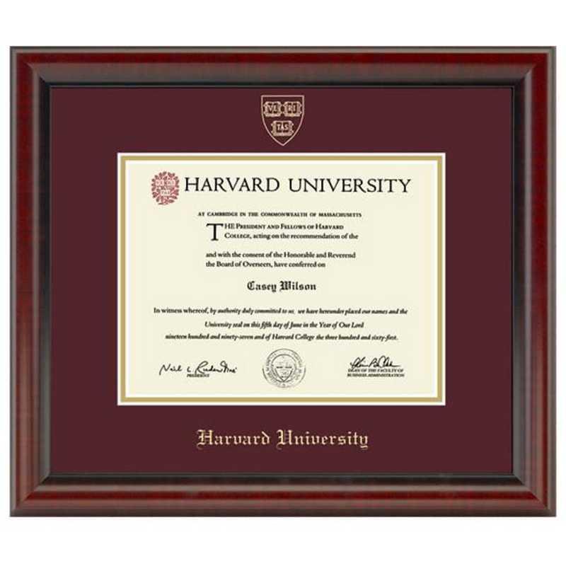 615789281054: Harvard University Diploma Frame- the Fidelitas