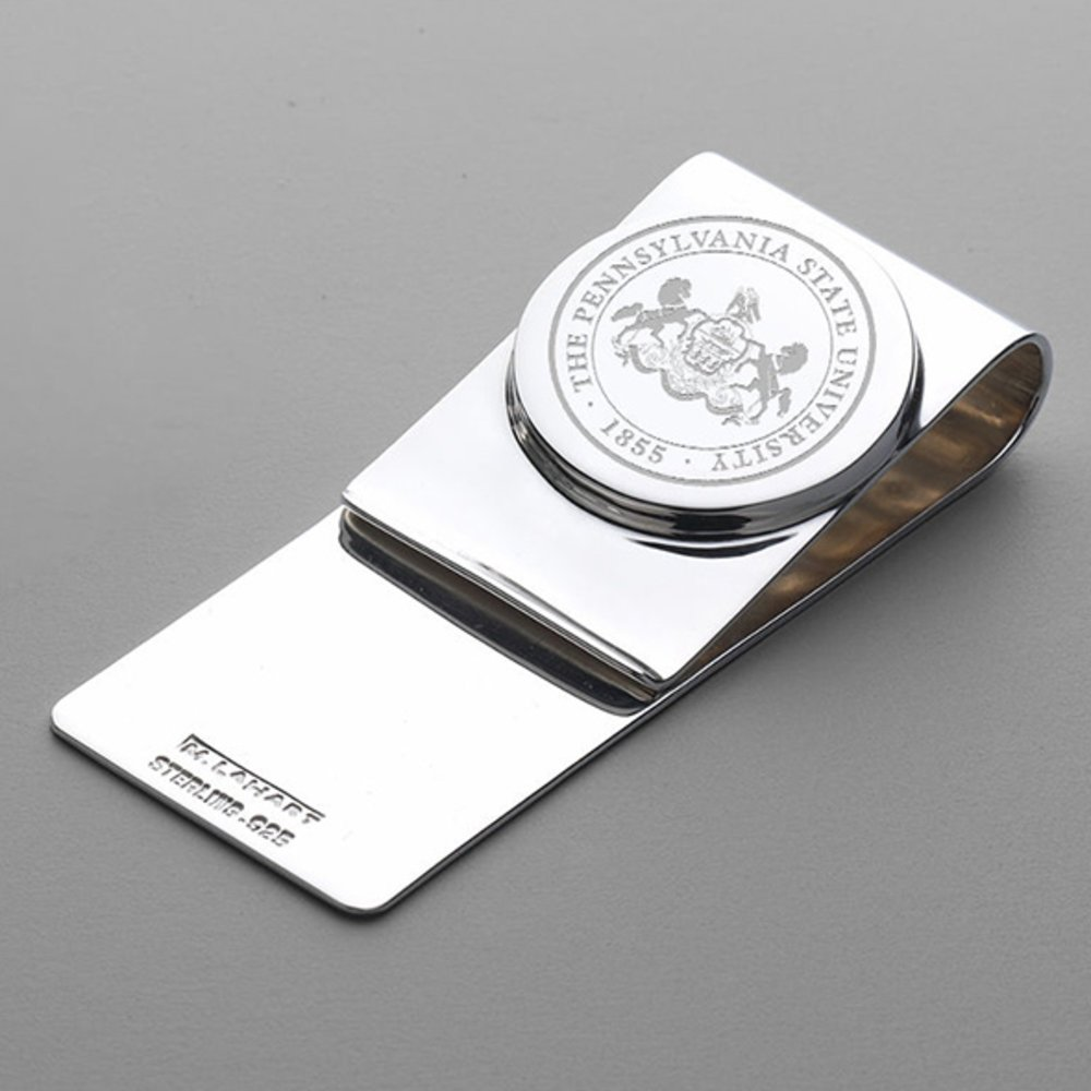 Sterling Silver LogoArt Official Licensed Collegiate Penn State University PSU Money Clip Crest