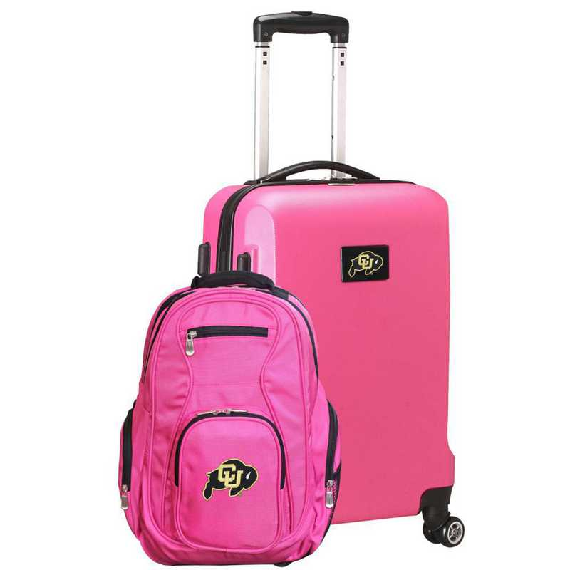 CLCOL104-PINK: Colorado Buffaloes Deluxe 2PC BP / Carry on Set