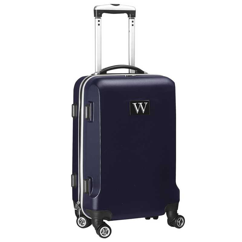 """INWWL204-NAVY: Initial Name Letter """"W"""" Navy Luggage"""
