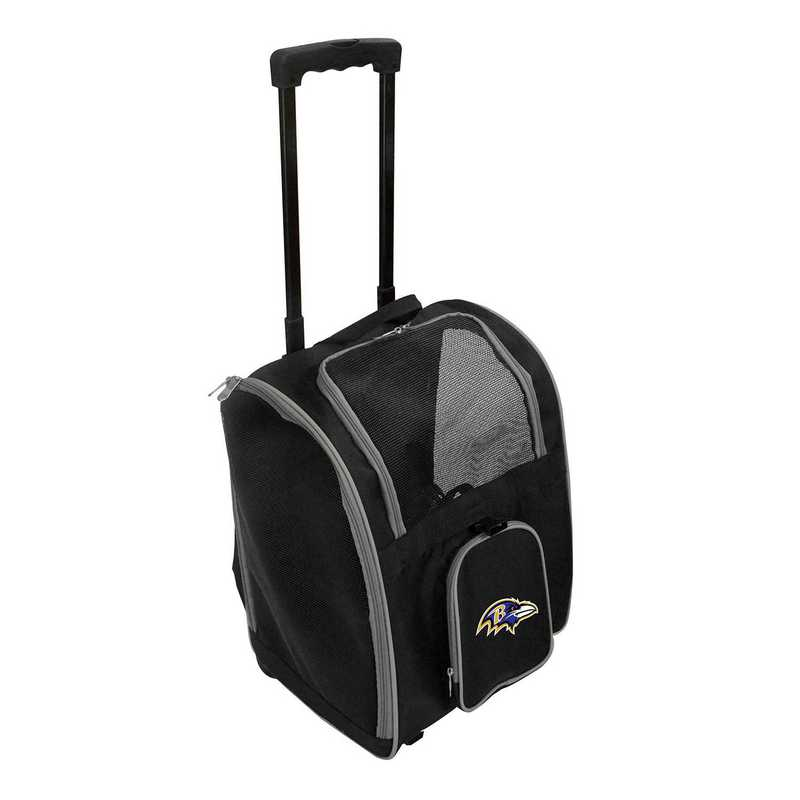 NFBRL902: NFL Baltimore Ravens Pet Carrier Premium bag W/ wheels