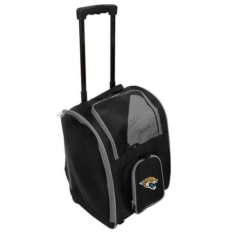 NFJJL902: NFL Jacksonville Jaguars Pet Carrier Premium bag W/ wheels