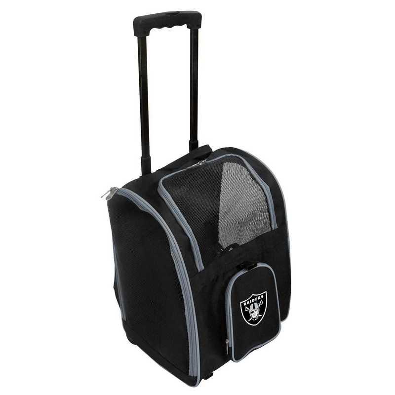 NFORL902: NFL Oakland Raiders Pet Carrier Premium bag W/ wheels