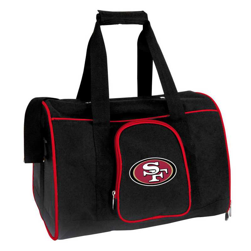 NFSFL901: NFL San Francisco 49ers Pet Carrier Premium 16in bag