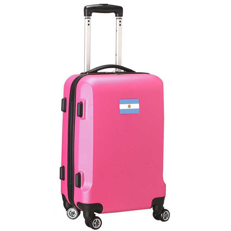 "FLARL204-PINK: Argentina Flag 21"" Carry-On Spinner Pink"