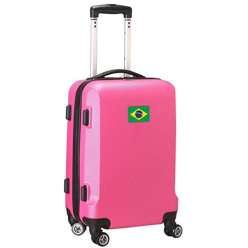 "FLBRL204-PINK: Brazil Flag 21"" Carry-On Spinner Pink"