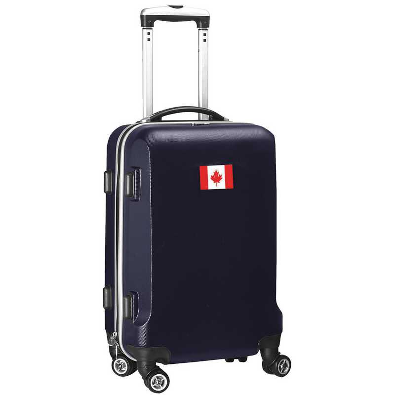 """FLCAL204-NAVY: Canada Flag 21"""" Carry-On Spinner Navy"""