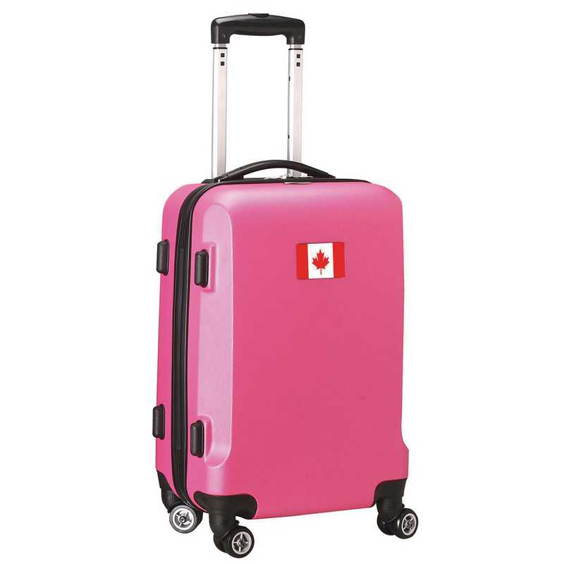 """FLCAL204-PINK: Canada Flag 21"""" Carry-On Spinner Pink"""