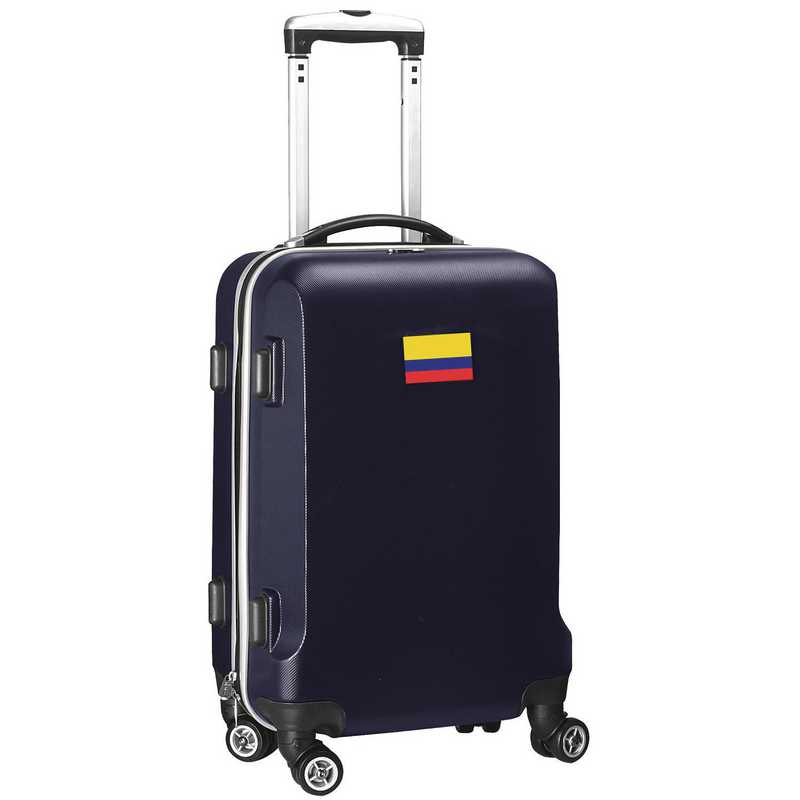 """FLCOL204-NAVY: Colombia Flag 21"""" Carry-On Spinner Navy"""
