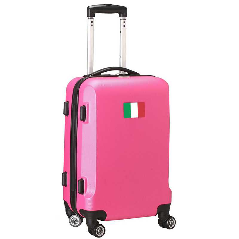 """FLITL204-PINK: Italy Flag 21"""" Carry-On Spinner Pink"""