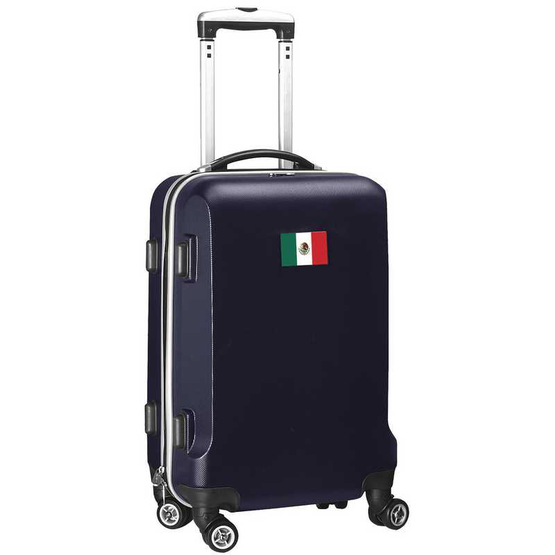 """FLMEL204-NAVY: Mexico Flag 21"""" Carry-On Spinner Navy"""