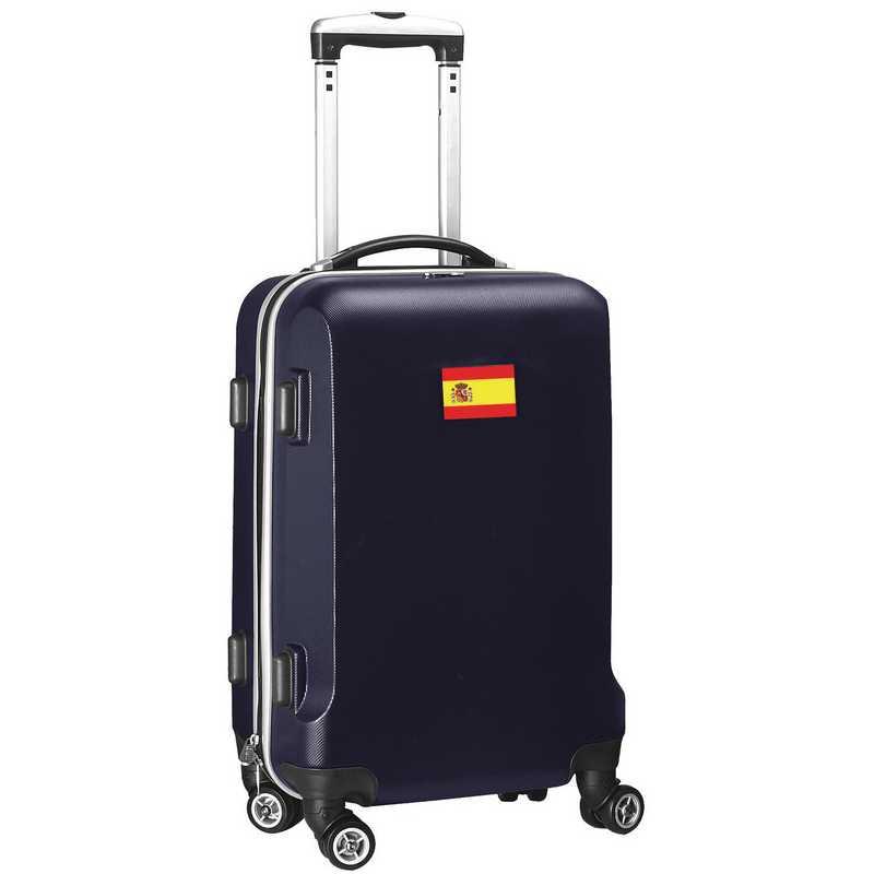 """FLSPL204-NAVY: Spain Flag 21"""" Carry-On Spinner Navy"""