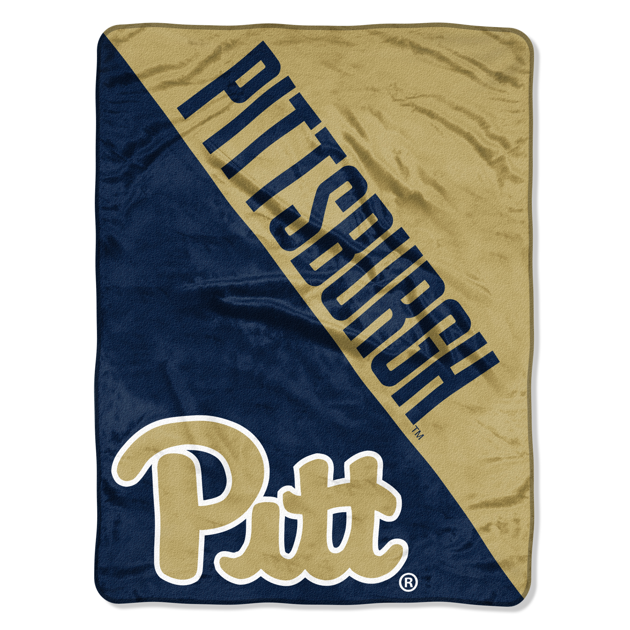 University Of Pittsburgh Panthers Dual Chrome Micro Throw Blanket