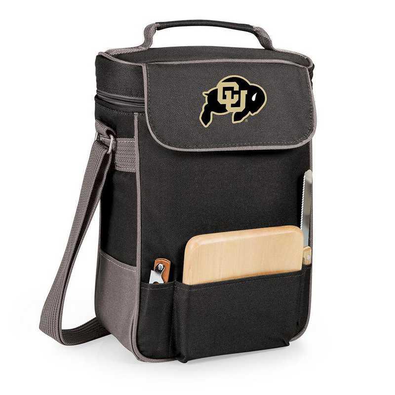 623-04-175-124-0: Colorado Buffaloes - Duet Wine / Cheese Tote (Black)