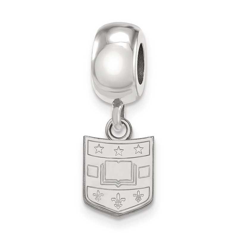 SS017WUS: SS Logoart Washington U In St. Louis Reflection Beads Charm