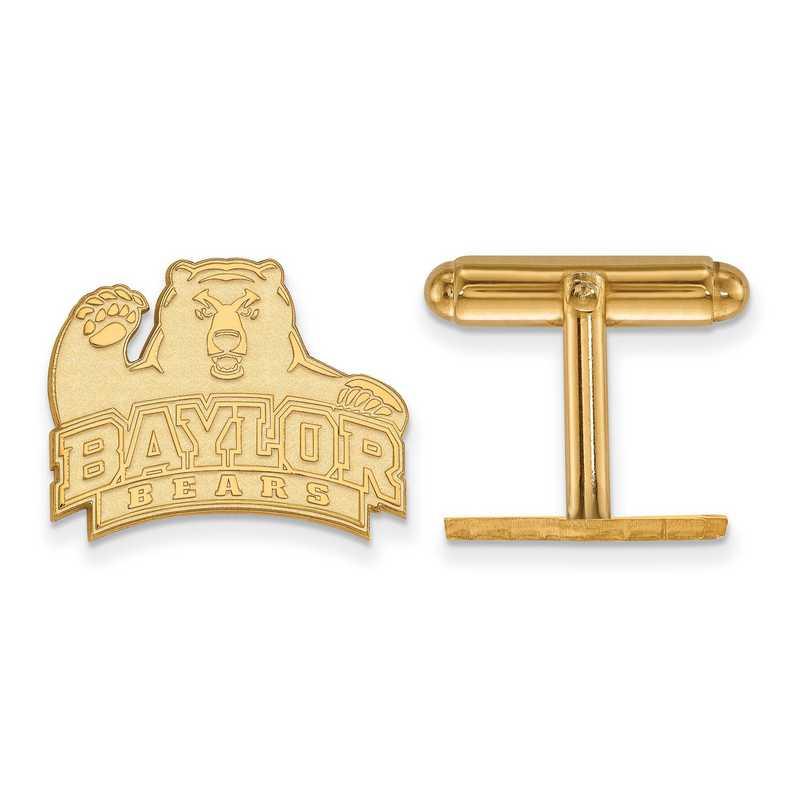 GP011BU: LogoArt NCAA Cufflinks - Baylor - Yellow