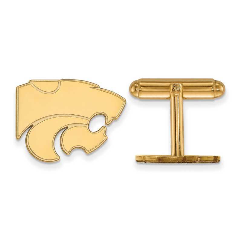 GP012KSU: LogoArt NCAA Cufflinks - Kansas St - Yellow