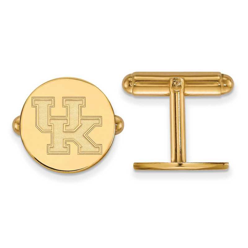 GP012UK: LogoArt NCAA Cufflinks - Kentucky - Yellow