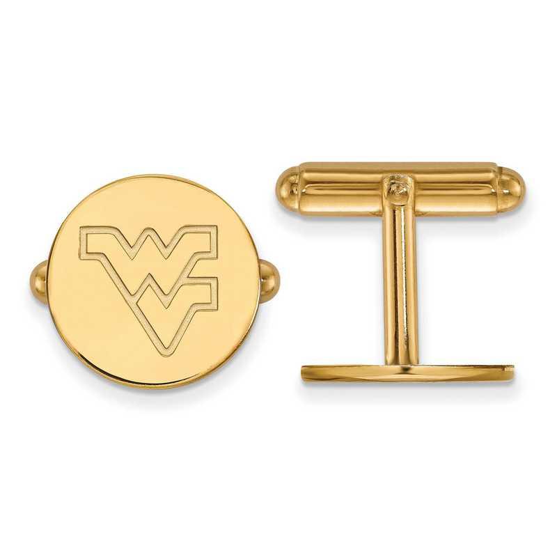 GP012WVU: LogoArt NCAA Cufflinks - West Virginia - Yellow