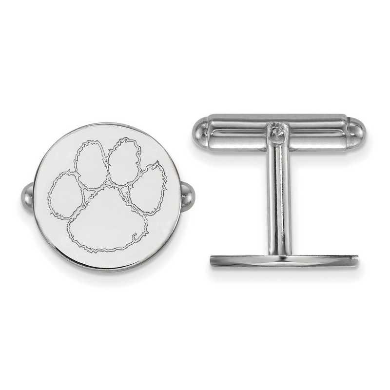 SS012CU: LogoArt NCAA Cufflinks - Clemson - White