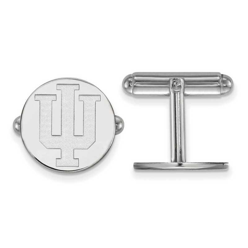 SS012IU: LogoArt NCAA Cufflinks - Indiana - White