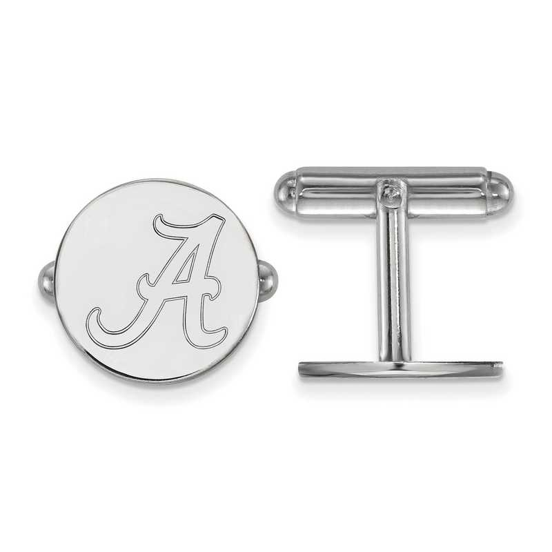 SS012UAL: LogoArt NCAA Cufflinks - Alabama - White