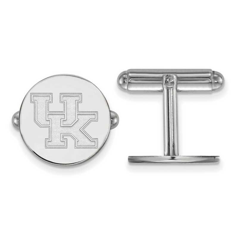 SS012UK: LogoArt NCAA Cufflinks - Kentucky - White