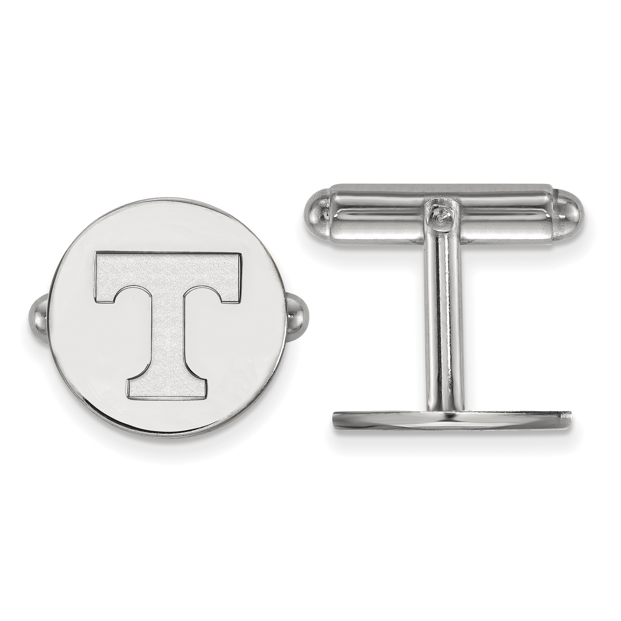925 Sterling Silver Rhodium-plated Laser-cut University of Tennessee XS Dangle Bead Charm