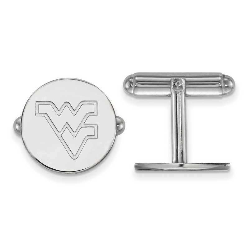 SS012WVU: LogoArt NCAA Cufflinks - West Virginia - White