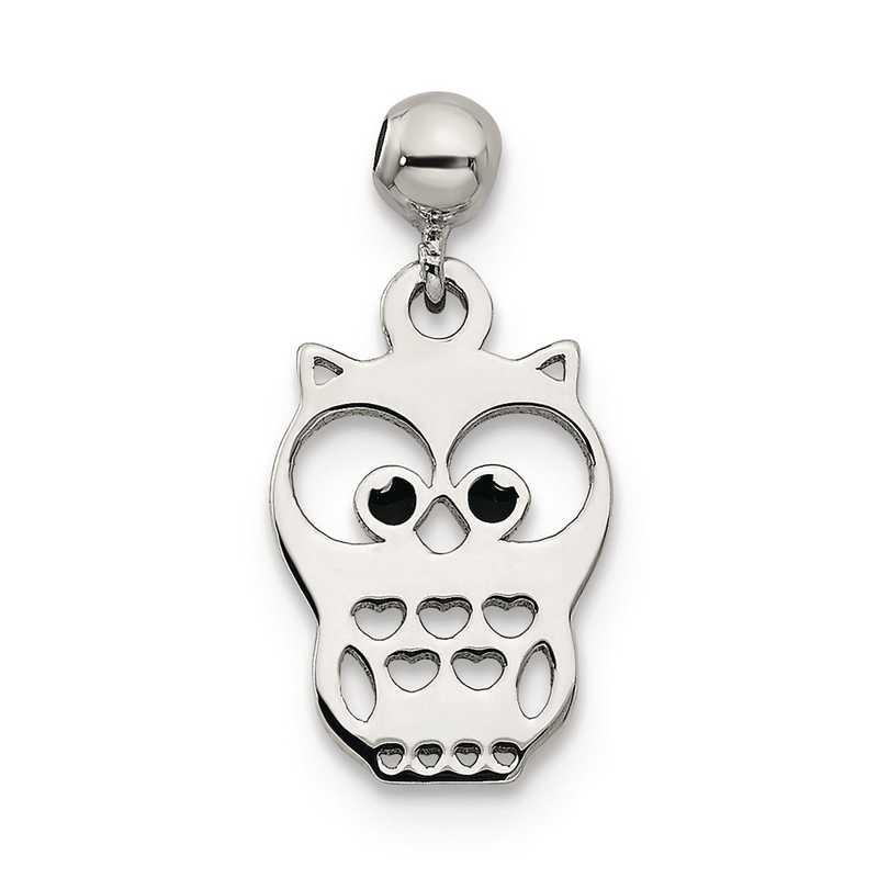 QMM187: 925 Mio Memento Enamel Dangle Owl Charm