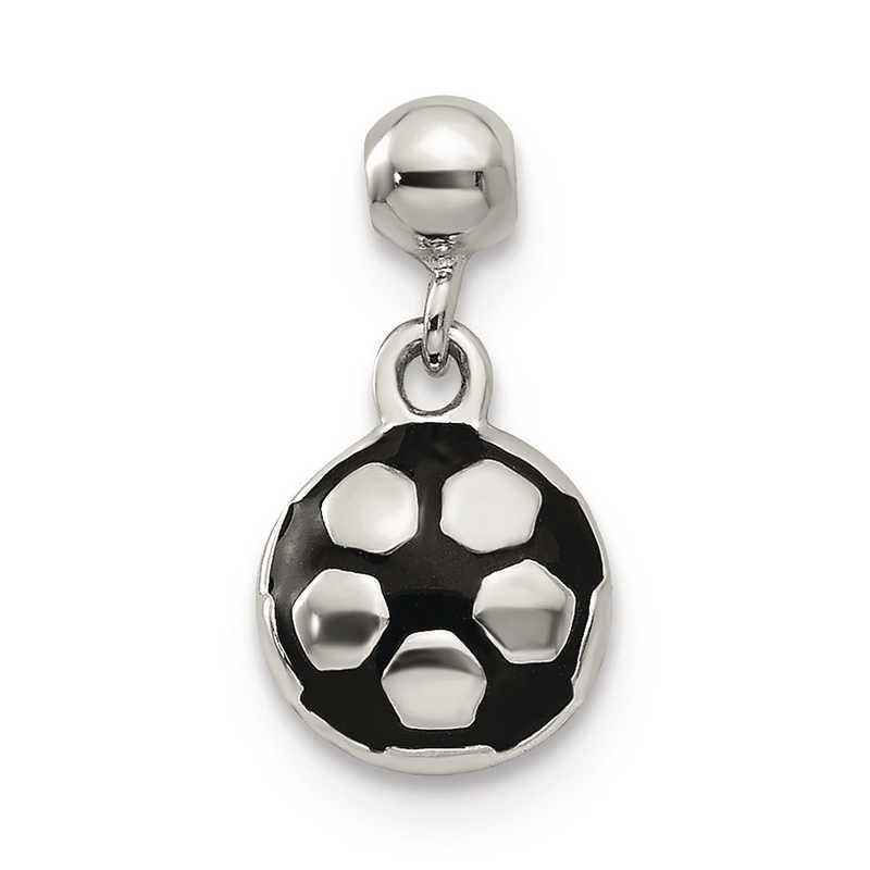 QMM220: 925 Mio Memento Enamel Dangle Soccer Ball Charm