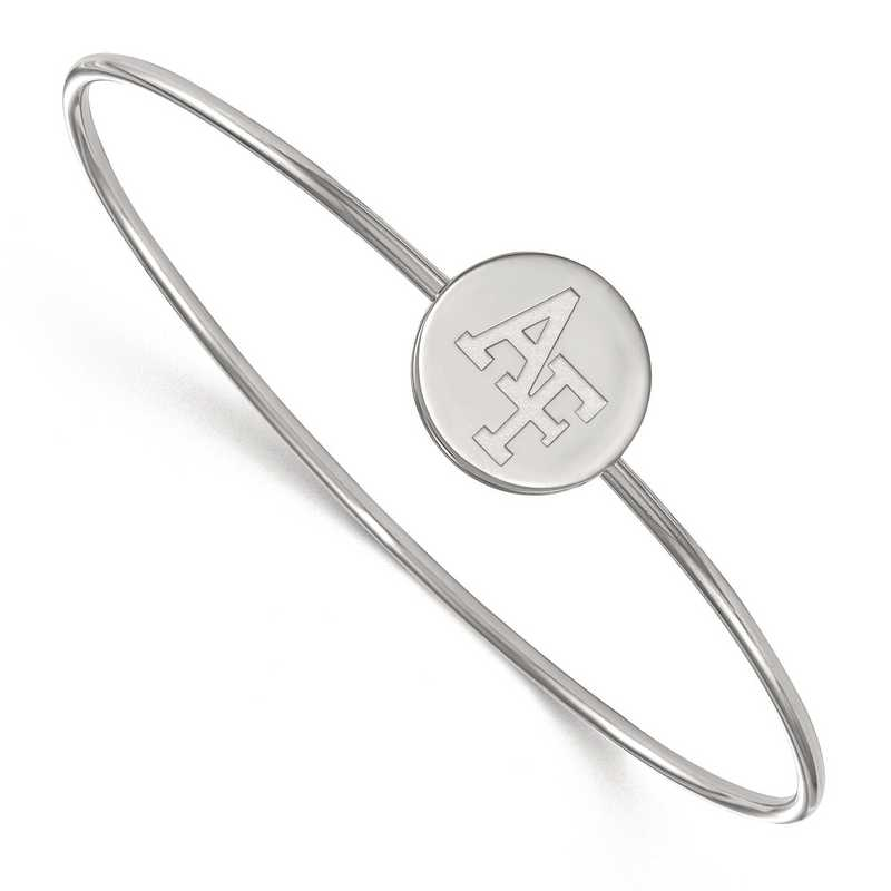 SS027USA-7: SS LogoArt United Sts Air Force Academy Wire Bangle