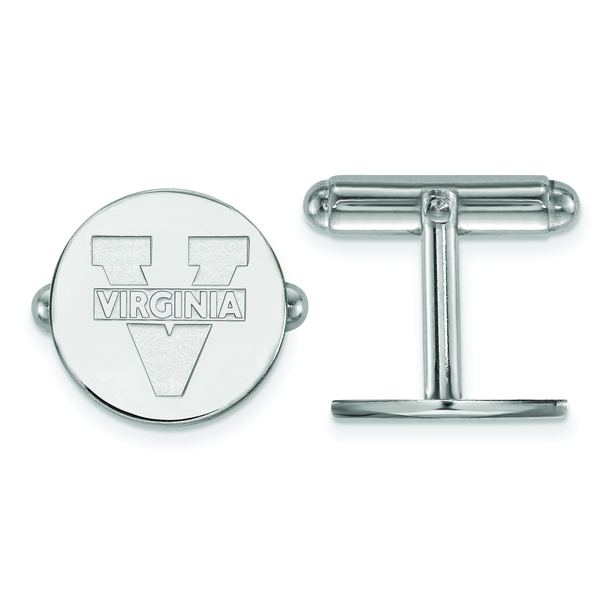 925 Sterling Silver Officially Licensed University College of Virginia Crest Cuff Link