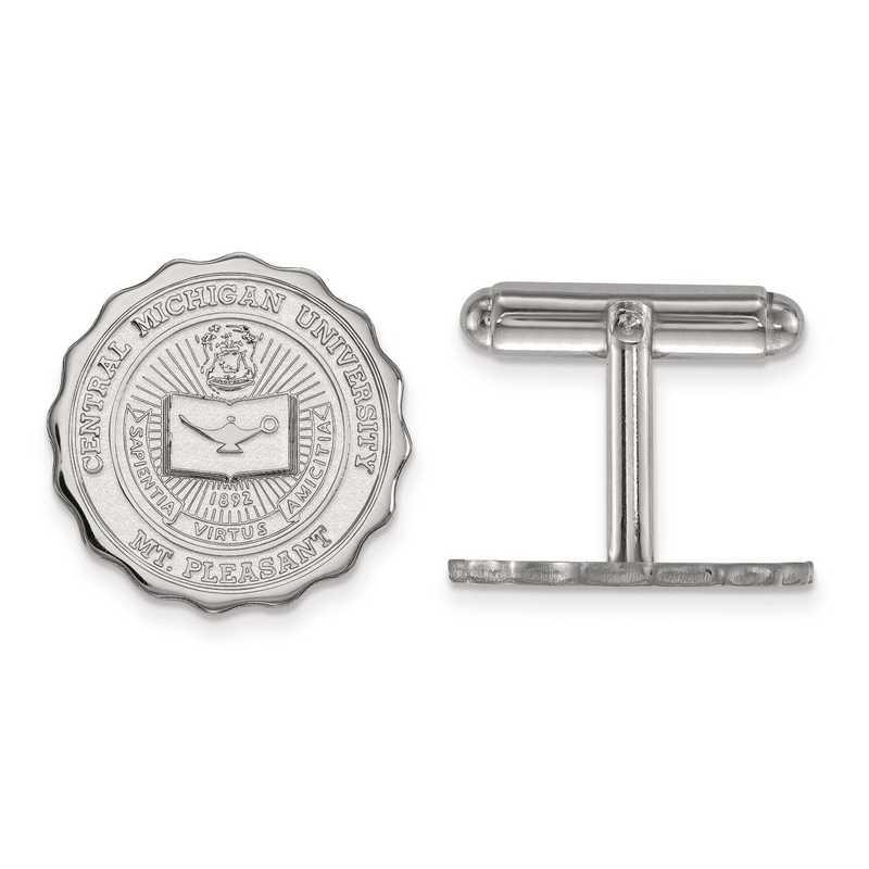 SS018CMU: SS LogoArt Central Michigan University Crest Cuff Link