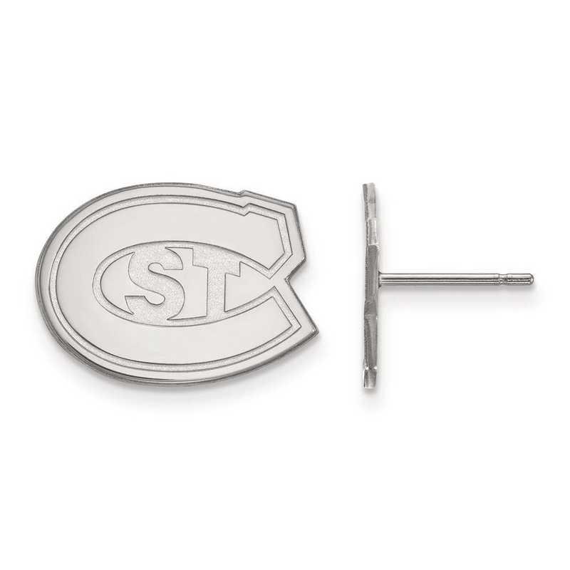 1W004STC: 10kw LogoArt St. Cloud State Small Post Earrings