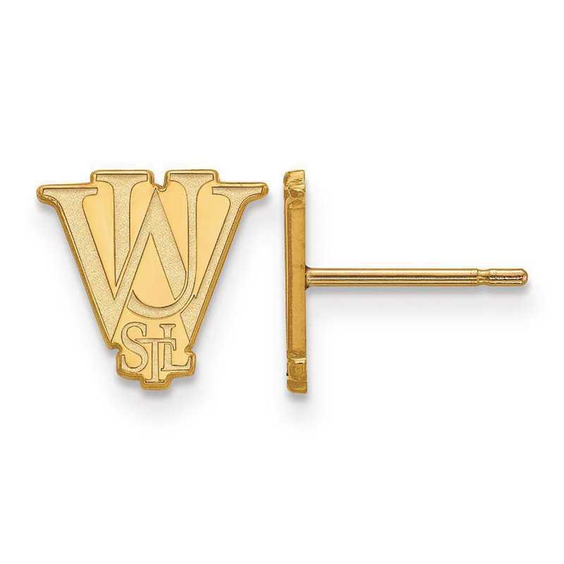 GP015WUS: SS GP LogoArt Washington Univ in St. Louis XS Post Earrings
