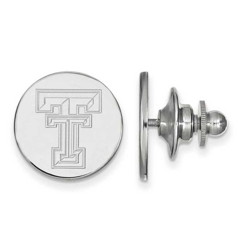 SS011TXT: SS LogoArt Texas Tech University Lapel Pin