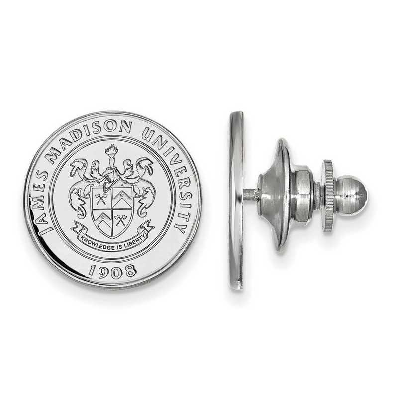 SS016JMU: SS LogoArt James Madison University Crest Lapel Pin