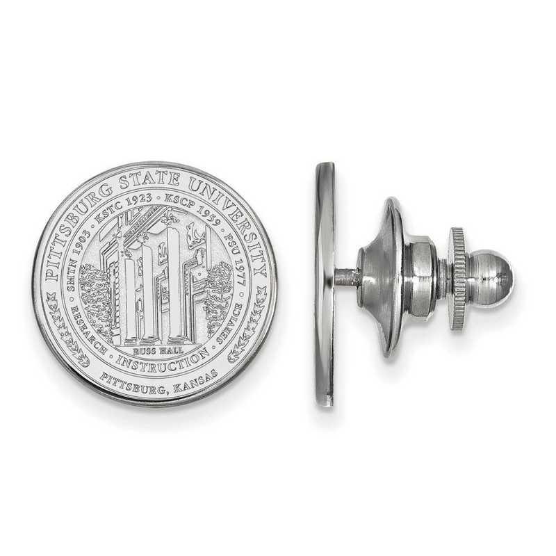 SS017PSK: SS LogoArt Pittsburgh State University Crest Lapel Pin