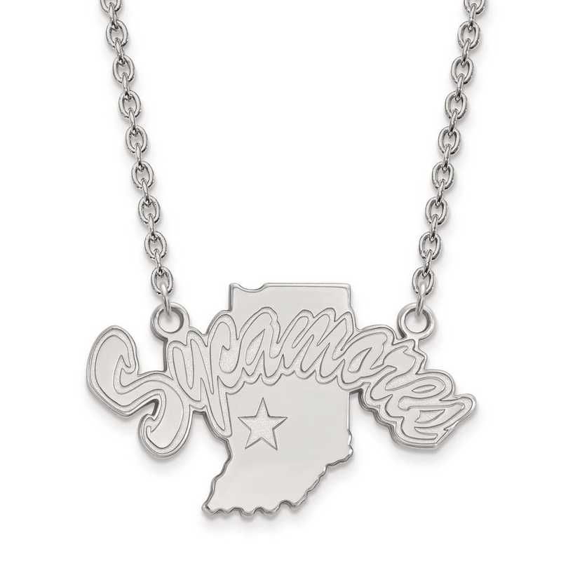 1W009ISU-18: 10kw LogoArt Indiana State Univ Large Pendant w/Necklace
