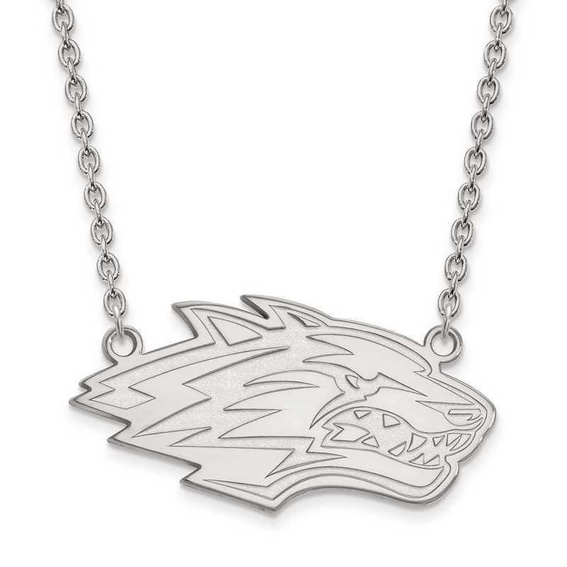 1W009UNM-18: 10kw LogoArt Univ of New Mexico Large Pendant w/Necklace