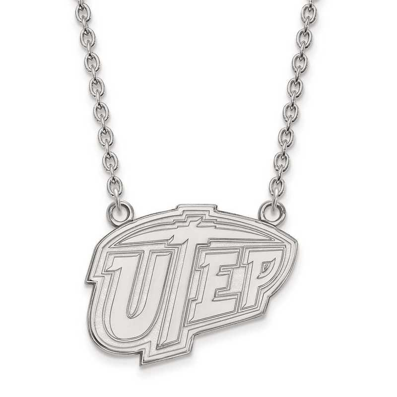 1W009UTE-18: 10kw LogoArt The Univ of Texas at El Paso Large Pend w/Neck
