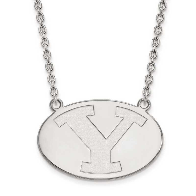 1W010BYU-18: 10kw LogoArt Brigham Young Univ Large Pendant w/Necklace