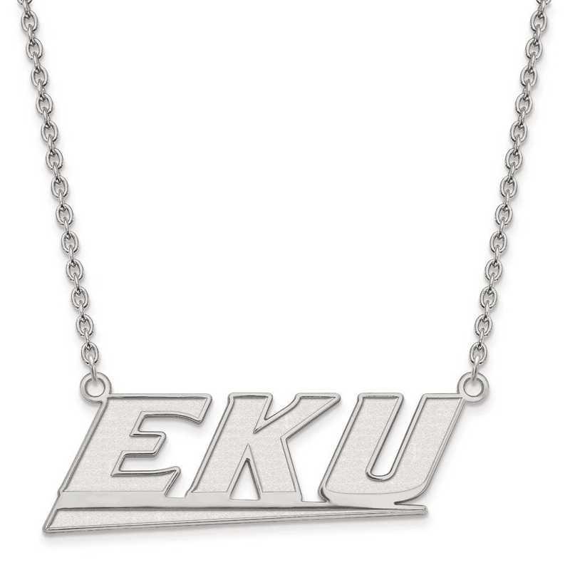 1W010EKU-18: 10kw LogoArt Eastern Kentucky Univ Large Pendant w/Necklace