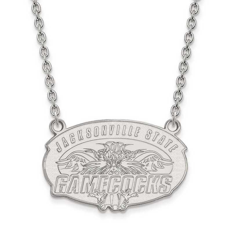 1W010JAC-18: 10kw LogoArt Jacksonville State Univ Large Pend w/Necklace
