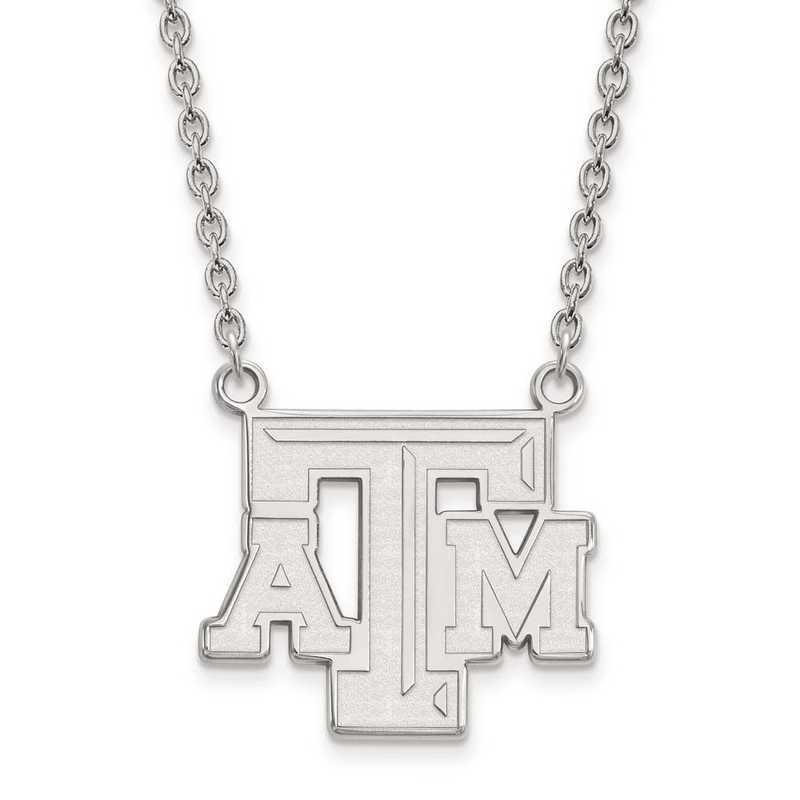 1W010TAM-18: 10kw LogoArt Texas A&M University Large Pendant w/Necklace
